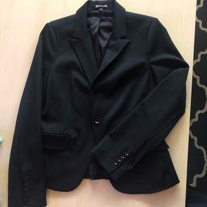 Women's Express black one button blazer